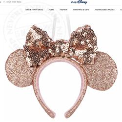 9416 Ornament Headband Gold - Minnie