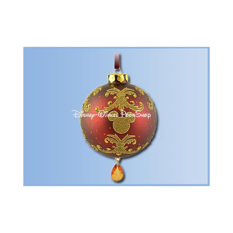 7490 Ornament Bal Victrorian met pegel - Mickey