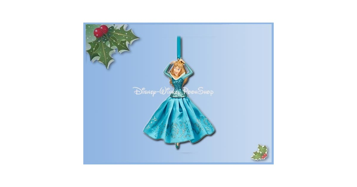 8103 3D Dangle Ornament X-Mas Gown Blue - Sleeping Beauty