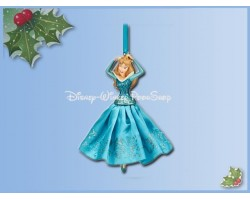 8103 3D Dangle Ornament X-Mas Gown Blue - Sleeping Beauty