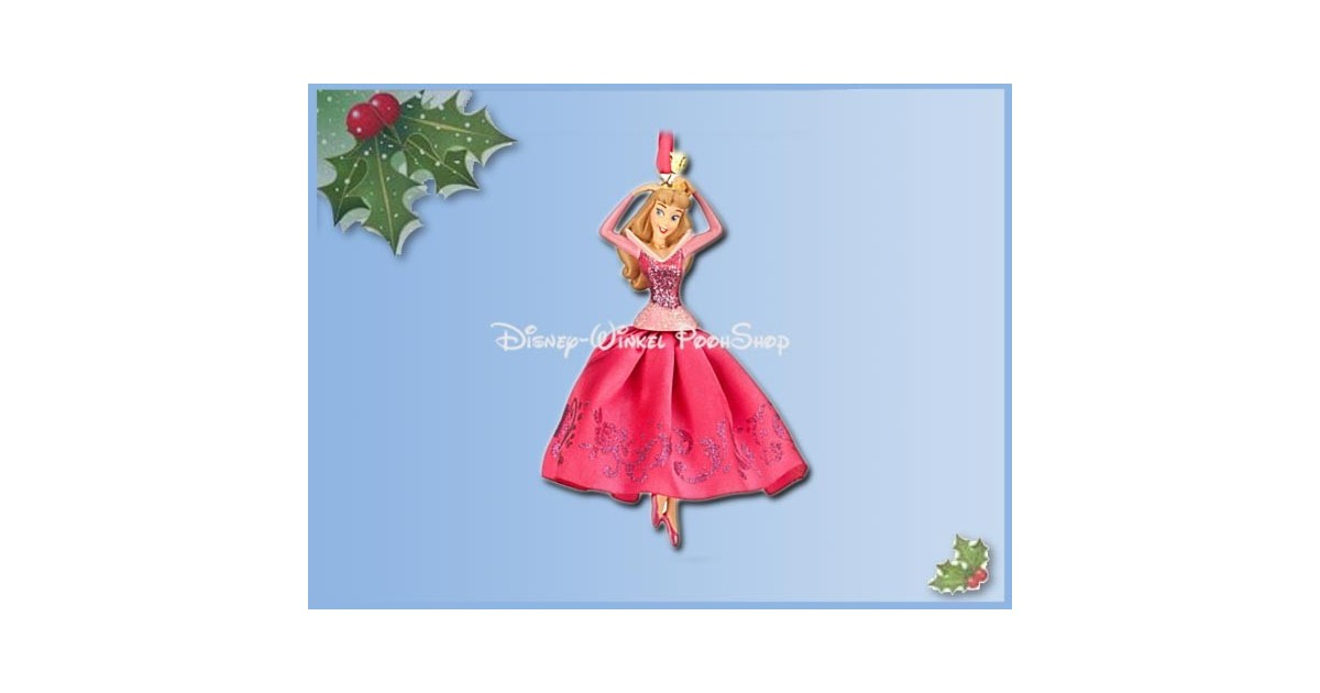 8105 3D Dangle Ornament X-Mas Gown Pink - Sleeping Beauty