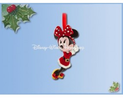 8149 3D Dangle Ornament - Retro Santa Holiday Minnie