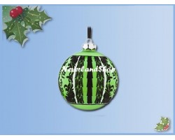 8282 Glass Ball Ornament - Green - The Haunted Mansion