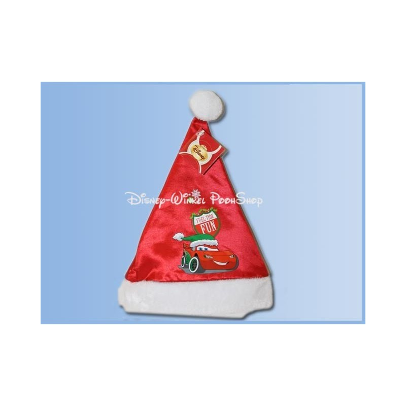 Bonte Satin Kerstmuts - Cars