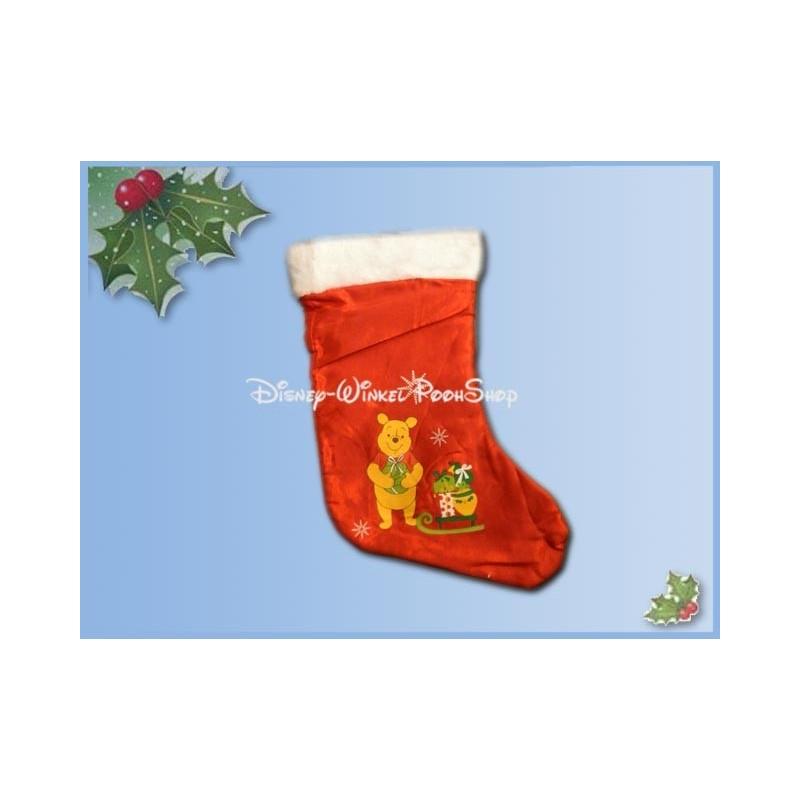 Bonte Satin Kerstsok - Pooh