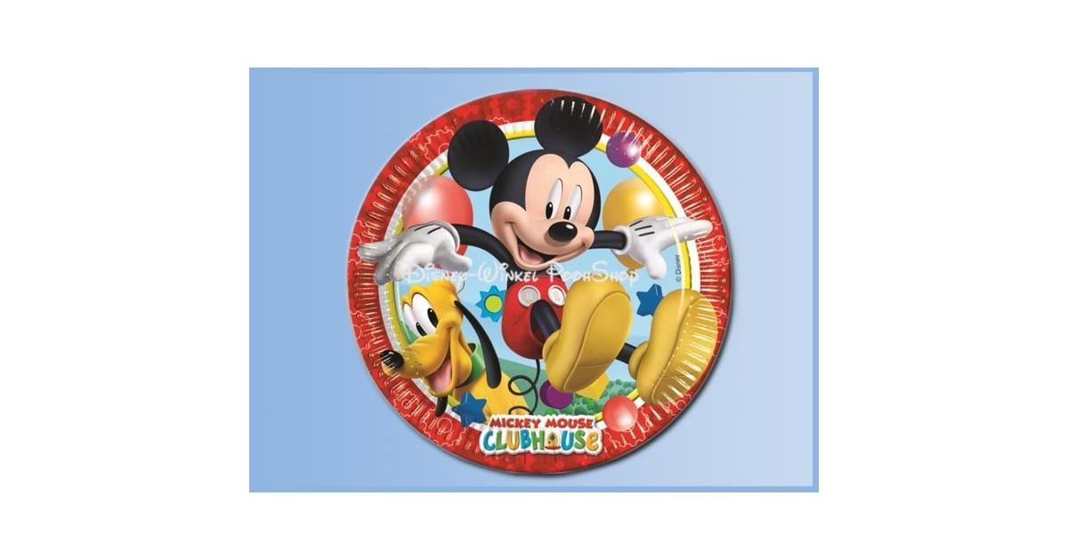 Bordjes 8 Stuks Playful - Mickey