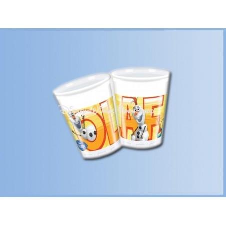 Plastic Bekers 8 Stuks - Frozen - Olaf