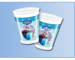 Plastic Bekers 8 Stuks Ice Skating - Frozen - Anna, Elsa & Olaf
