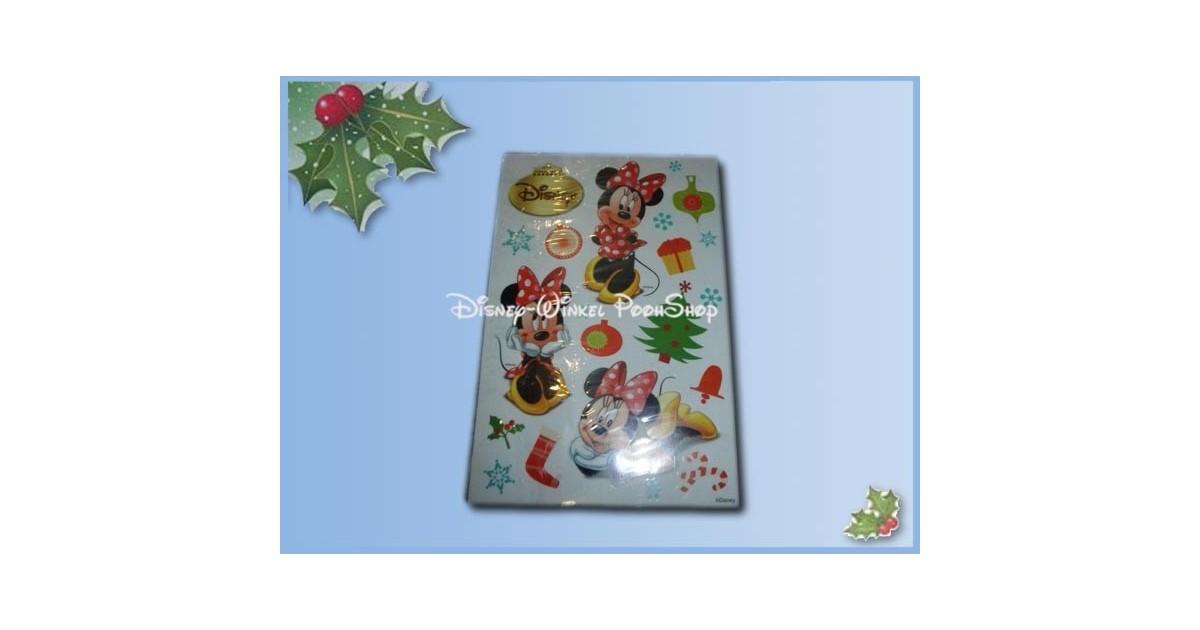 Raamstickers kerst  30x20cm  - Minnie