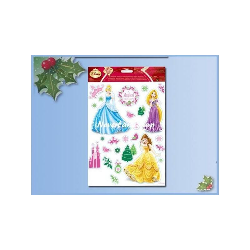 Raamstickers kerst  30x20cm  - Princess II