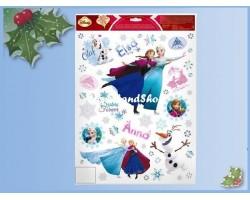 Raamstickers kerst  42x30cm  - Frozen