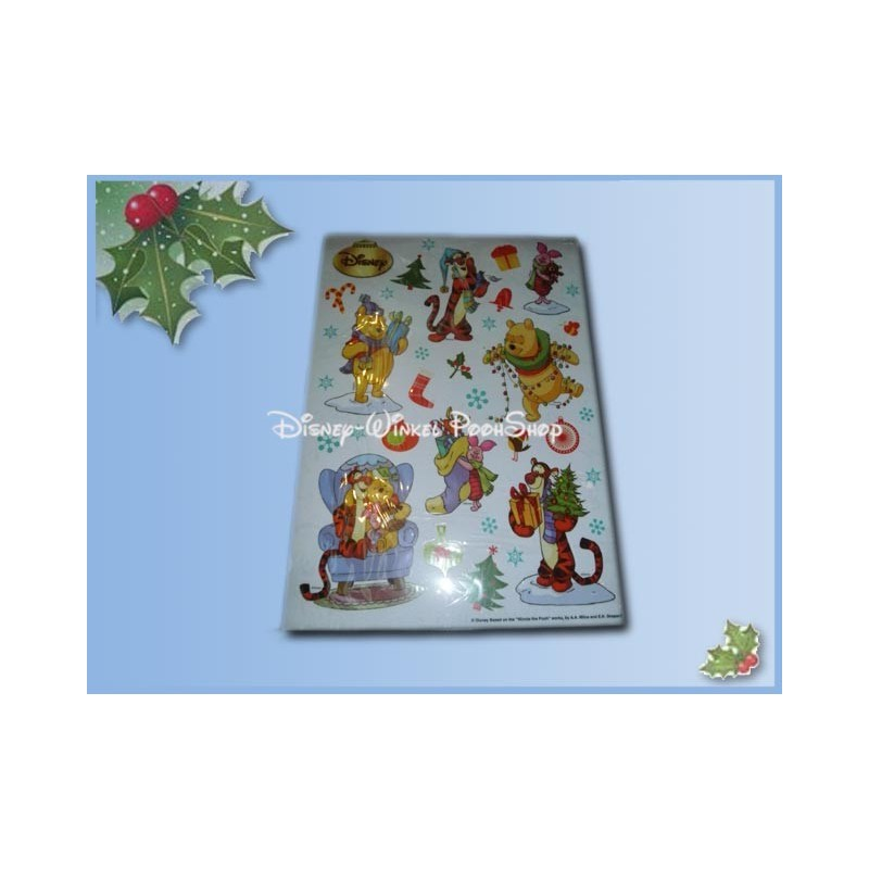 Raamstickers kerst  42x30cm  - Pooh & Co