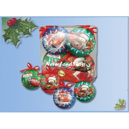 Set van 4 onbreekbare kerstballen - Cars II