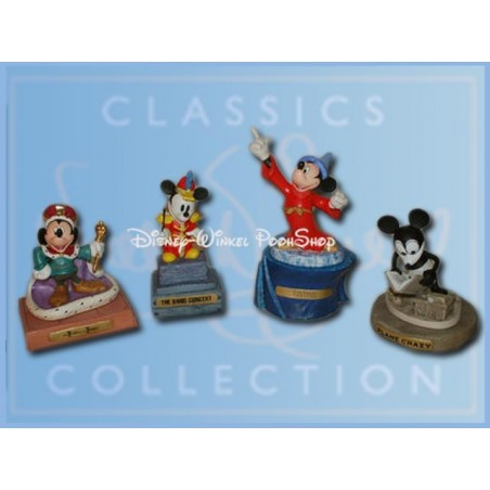 8Dlg Set Mickey - Fantasia, Band Concert,  The Prince & The  Pauper & Plane Crazy  ZGAN