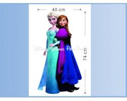 Muur Sticker 74/40cm - Frozen - Anna & Elsa