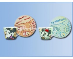 1155 2Dlg set Cappuccino Kop en Schotel - Mickey & Minnie