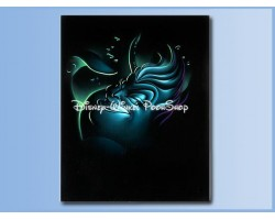 Villains Giclee on Canvas - UrsulabrThe Little MermaidbrDe Kleine Zeemeermin