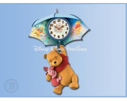 Blustery Days Wall Clock - Pooh & Piglet