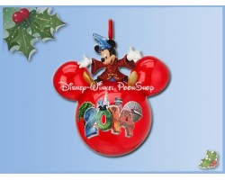 8001 3D Bal Ornament 2014 -  Mickey Sorcerer