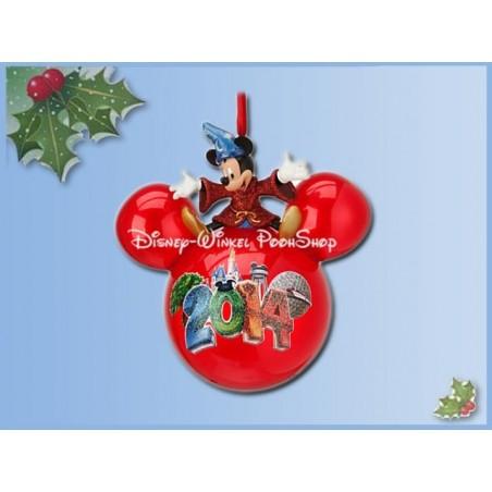 8001 3D Bal Ornament 2014 -  Mickey Sorcerer