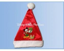 Bonte Satin Kerstmuts - Mickey