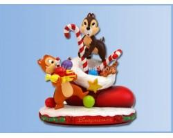 Klein Kerst beeldje - Chip & Dale
