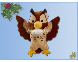 8501 StoryBook Plush Ornament - Owl